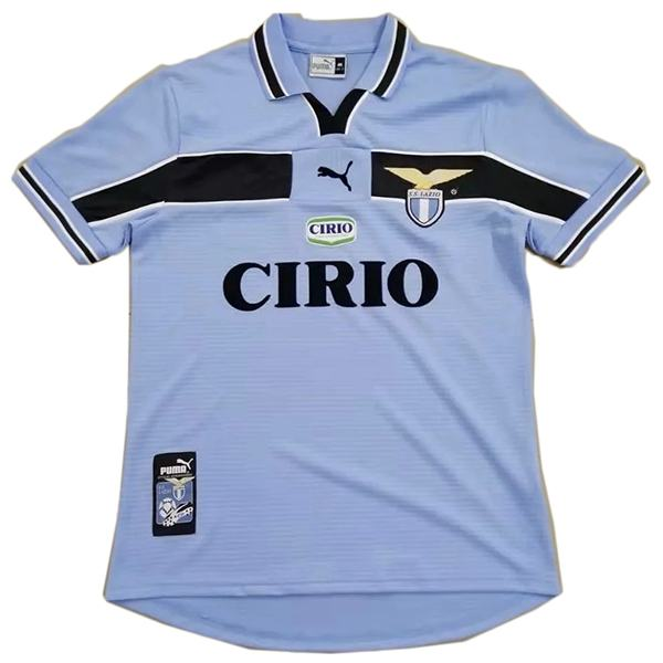 Lazio home retro soccer jersey maillot match men's 1st sportwear football shirt 1999-2000
