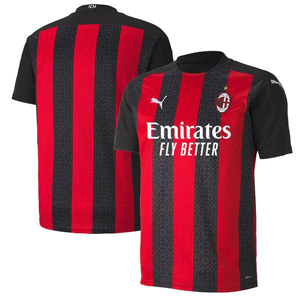 AC Milan home jersey maillot match men's 1st soccer sportwear football shirt 2020-2021