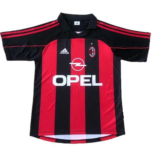 AC milan home retro soccer jersey maillot match men's 1st sportwear football shirt 2000-2002