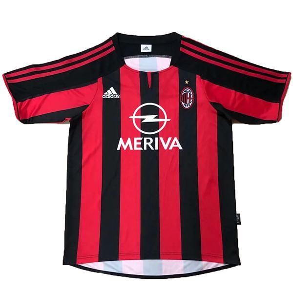 AC milan home retro soccer jersey maillot match men's 1st sportwear football shirt 2003-2004