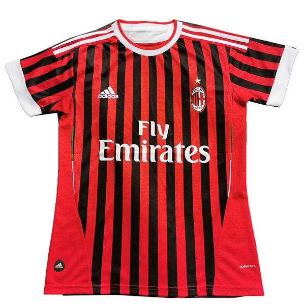 AC milan home retro soccer jersey maillot match men's 1st sportwear football shirt 2011-2012