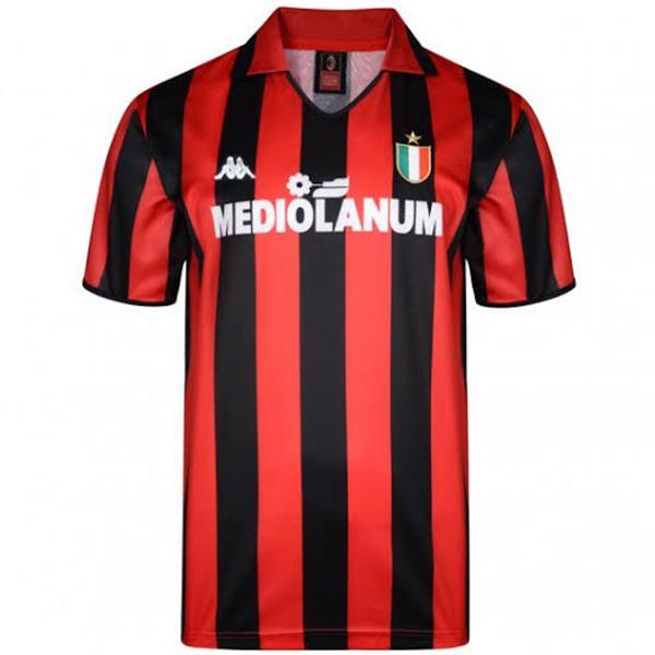 AC milan home retro soccer jersey sportwear men's 1st soccer shirt football sport t-shirt 1988