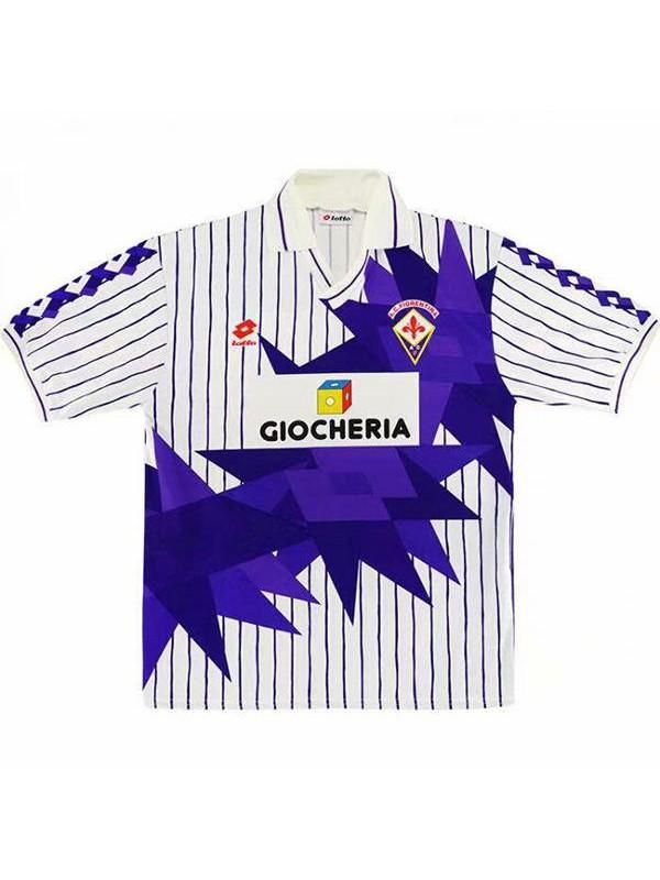 ACF Fiorentina away retro soccer jersey maillot match men's second sportswear football shirt 1991-1992