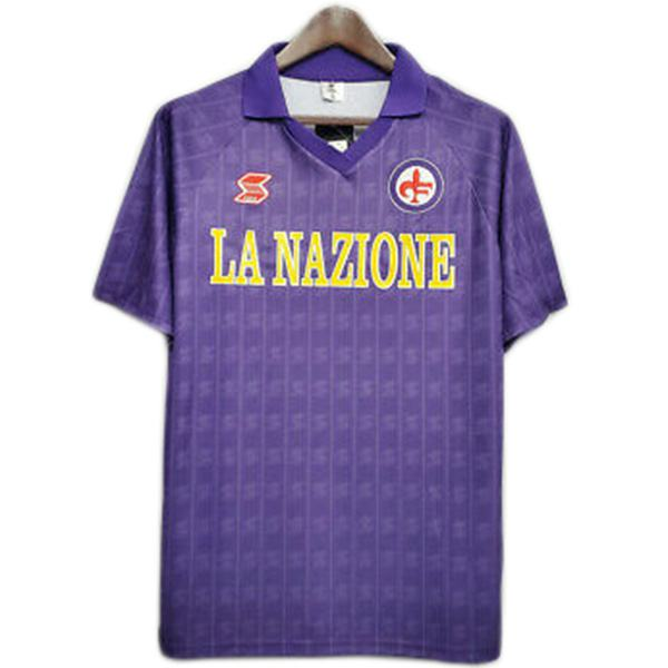 ACF Fiorentina home retro soccer jersey maillot match men's first sportswear football shirt 1989-1990