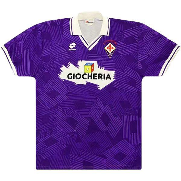 ACF Fiorentina home retro soccer jersey maillot match men's first sportswear football shirt 1991-1992