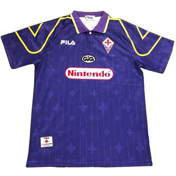 ACF Fiorentina home retro soccer jersey maillot match men's first sportswear football shirt 1997-1998
