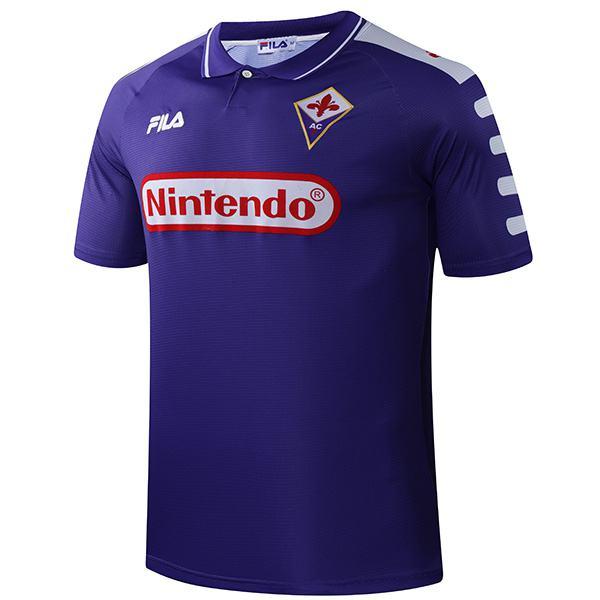 ACF Fiorentina home retro soccer jersey maillot match men's first sportwear football shirt 1998-1999