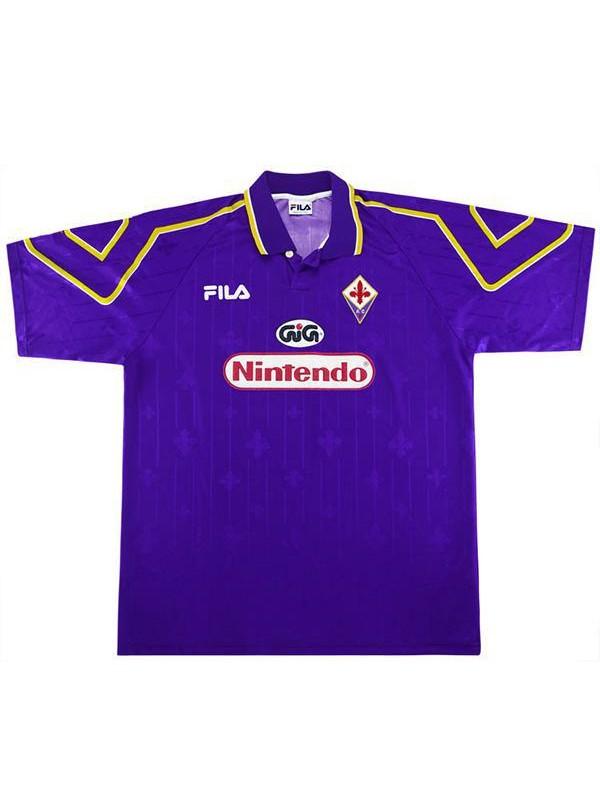ACF Fiorentina home vintage retro jersey maillot match men's first soccer sportswear football shirt 1997-1998