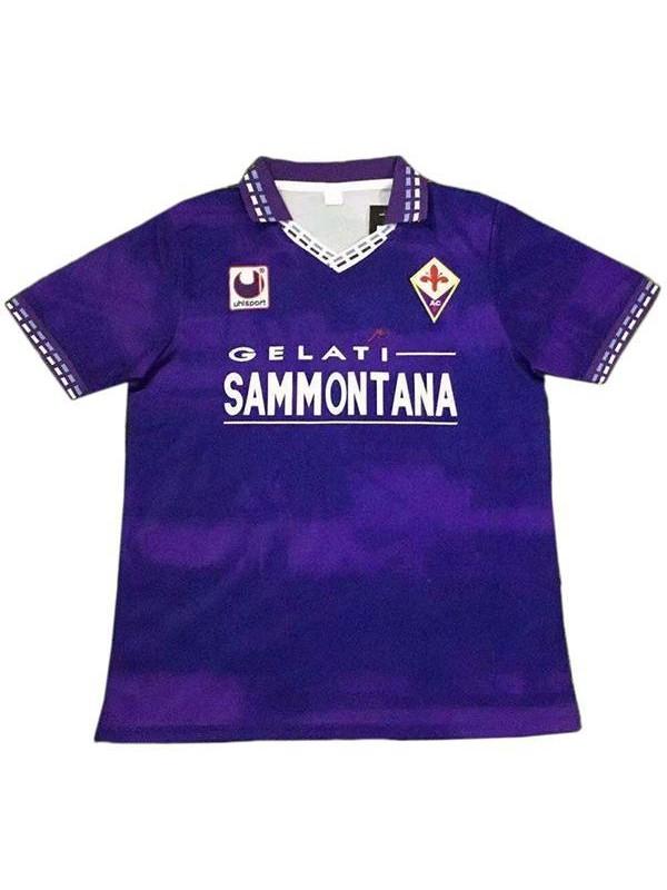 ACF Fiorentina home vintage retro soccer jersey maillot match men's first sportswear football shirt 1994-1995