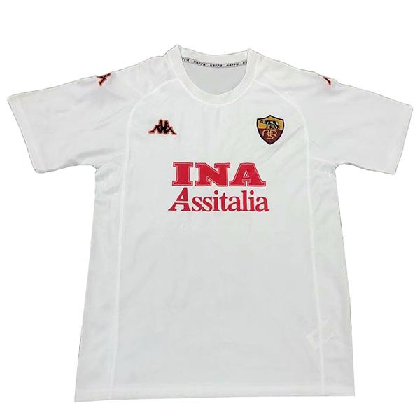 AS roma away retro soccer jersey maillot match men's second sportwear football shirt 2000-2001
