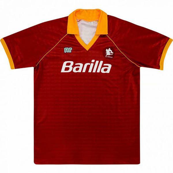 AS roma home retro soccer jersey maillot match men's 1st sportwear football shirt 1990-1991