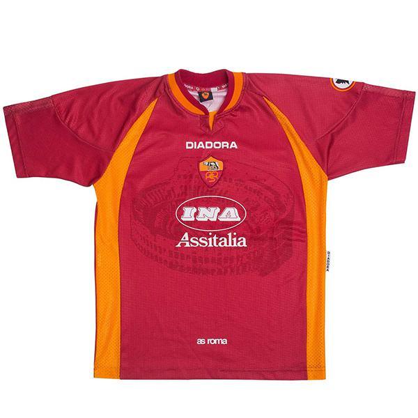 AS roma home retro soccer jersey maillot match men's first sportswear football shirt 1997-1998