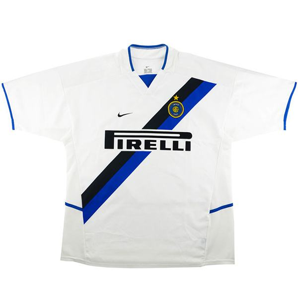 Inter Milan Away Retro Jersey Men's Soccer Sportwear Football Shirt 2002/2003