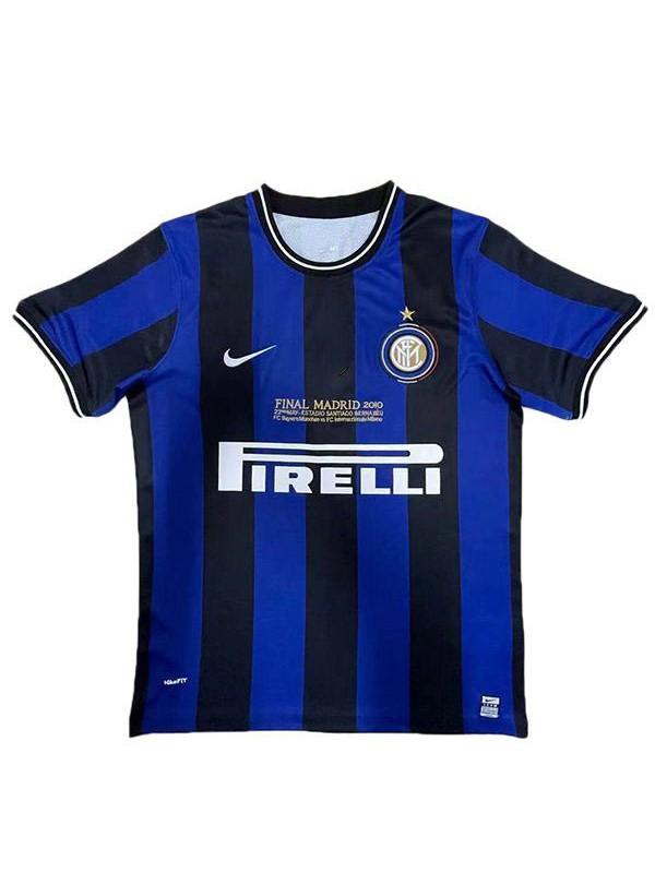 Inter milan home retro soccer jersey champions league maillot match men's first sportswear football shirt 2009-2010