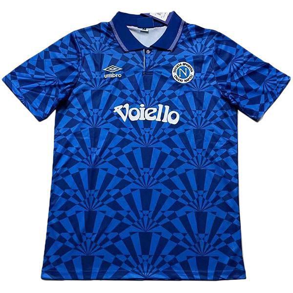 Napoli home retro vintage soccer jersey match men's first sportswear football 1991-1993