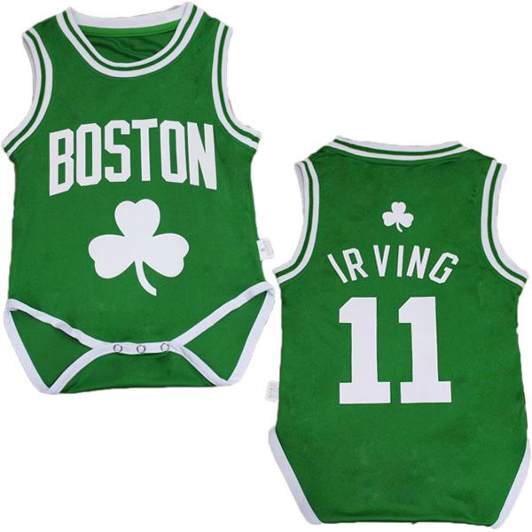 Boston celtics kyrie irving 11 green baby onesie