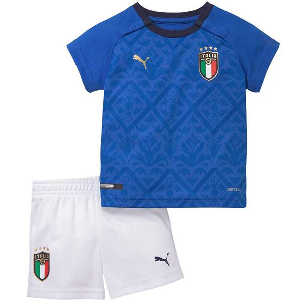 Italy home kids kit maillot match younth 1st uniforms sportwear football children shirt 2020 euro