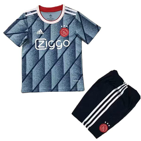 Ajax away kids kit soccer children 2ed football shirt maillot match youth uniforms 2020-2021