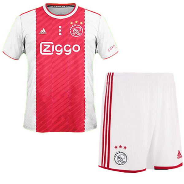 Ajax home kids kit soccer children 1st football shirt maillot match youth uniforms 2020-2021