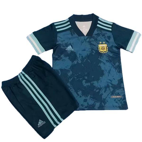 Argentina Away Kids Kit Soccer Children 2ed Football Shirt Youth Uniforms 2020-2021