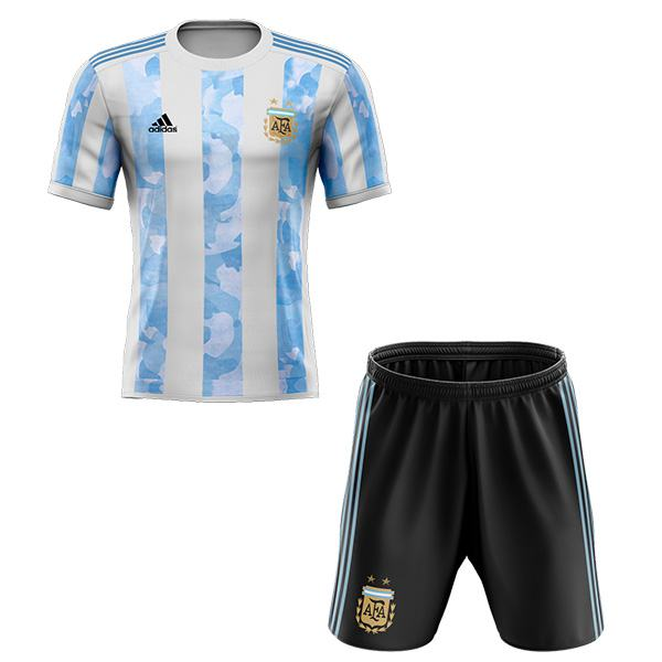 Argentina home kids kit soccer children 1st football shirt maillot match youth uniforms 2020-2021
