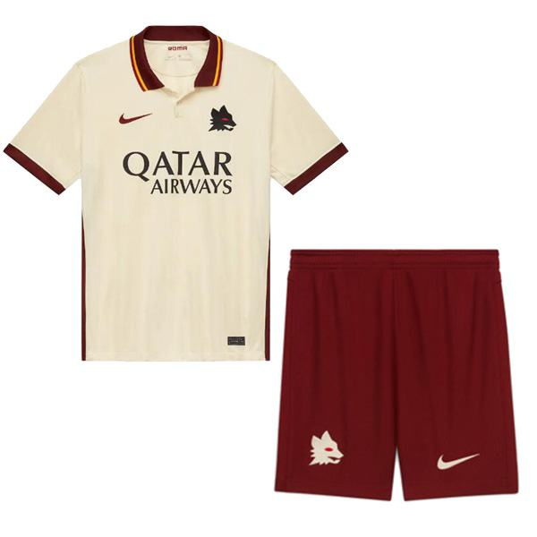 AS roma away kids kit soccer children 2ed football shirt maillot match youth uniforms 2020-2021