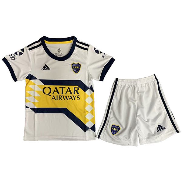 Boca Juniors Away Kids Kit Children CABJ Football Shirt Youth Soccer 2ed Uniforms 2020-2021