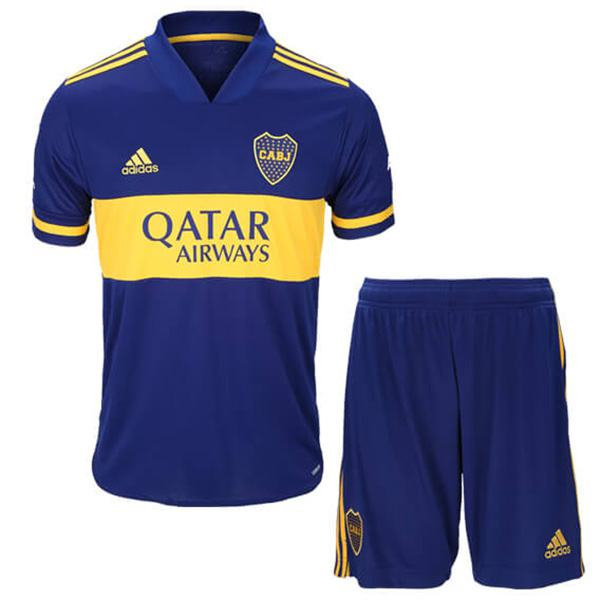 Boca Juniors Home Kids Kit Soccer Children 1st Football Shirt Youth Uniforms 2020/2021