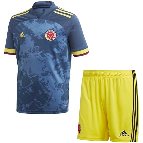 Colombia Away Euro 2020 Soccer Kids Kit Children 2ed Football Shirt Youth Uniforms