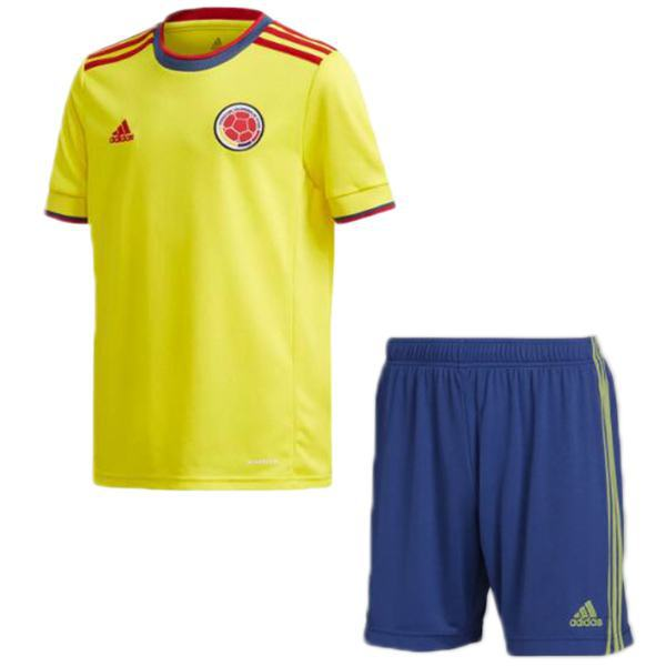 Colombia home kids kit soccer children first football shirt maillot match youth uniforms 2021