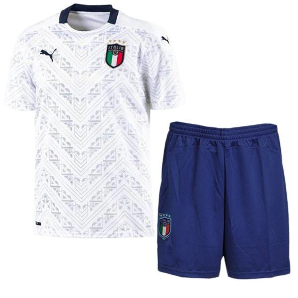 Italy Away Kids Kit Soccer EURO2020 Minikit Children 2ed Football Shirt Youth Uniforms