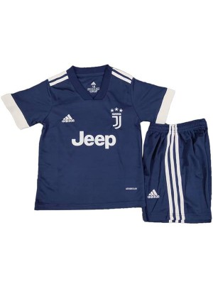 Juventus away kids kit soccer children 2ed football shirt maillot match youth uniforms 2020-2021