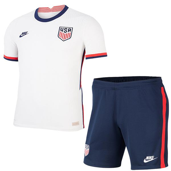 USA home soccer kids kit united states maillot match younth 1st sportwear football children shirt 2020