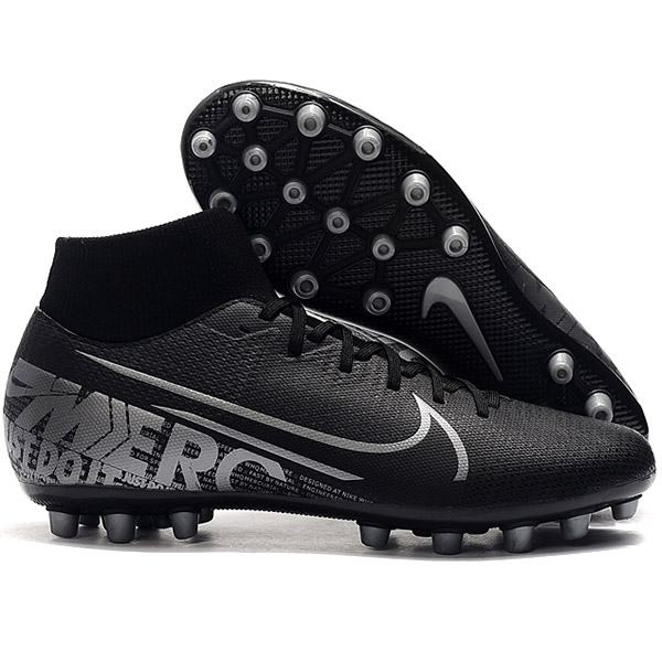 Mercurial Superfly KJ VI 360 Elite Soccer CRONALDO Superfly 7 Academy CR7 AG Football Shoes Black 2019