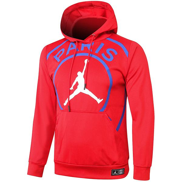 Jordan Paris Saint Germain Air Fly Hoodie Jacket Tracksuit Soccer Pants Suit Sports Set Cleats PSG Men's Clothes Football Training Jersey Red 2020/2021