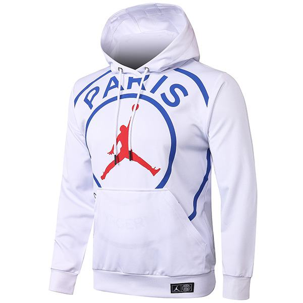 Jordan Paris Saint Germain Air Fly Hoodie Jacket Tracksuit Soccer Pants Suit Sports Set Cleats PSG Men's Clothes Football Training Jersey White 2020/2021
