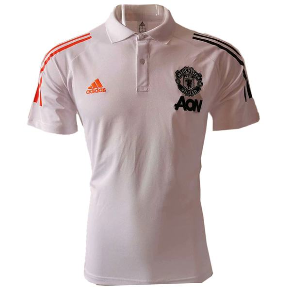 Manchester united polo jersey men's football training jersey white soccer teal sportwear t shirt 2020