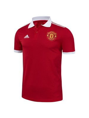 Manchester united polo jersey soccer top sports match men's first training sportswear football shirt red 2021-2022