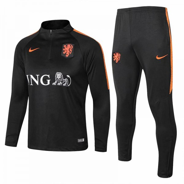 Netherlands 2018 world cup zipper necked tracksuit kit