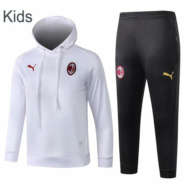 AC Milan Hooded Kids Kit Whiter Black 2019