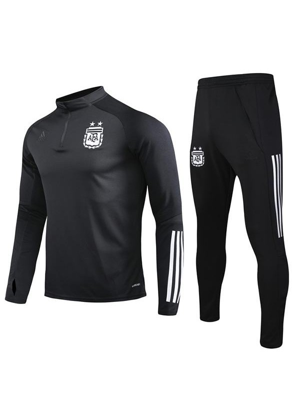 Argentina Tracksuit Soccer Pants Suit Sports Set Necked Cleats Men's Clothes Football Training Jersey Black EURO 2020