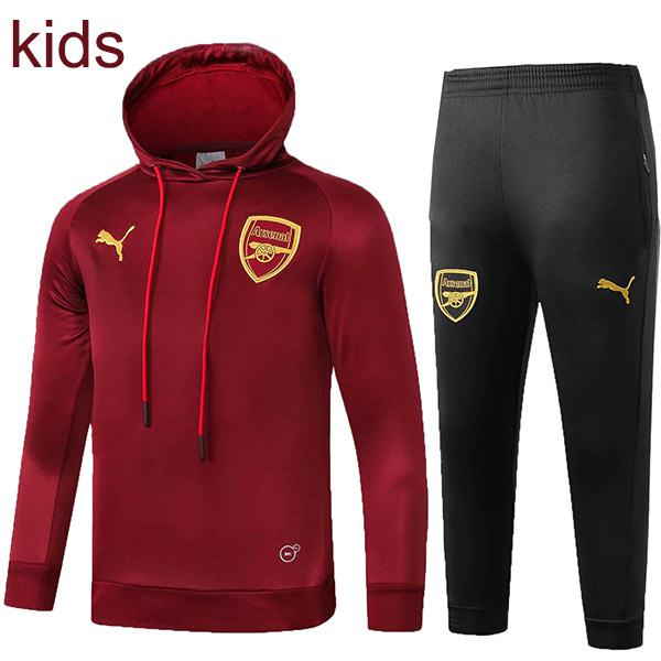 Arsenal hooded kids kit darkred 2019