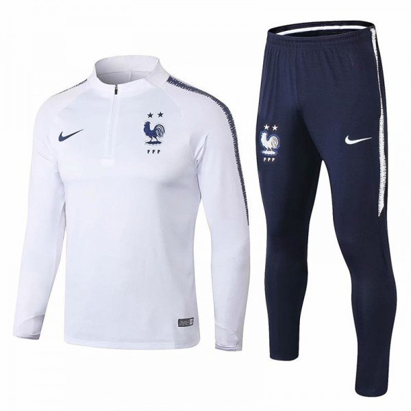 France 2 star tracksuit 2018 world cup white