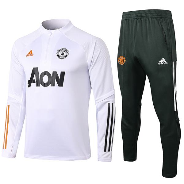 Manchester United Tracksuits Soccer Pants Suit Sports Set Necked Cleats Men S Clothes Football Training Jersey White