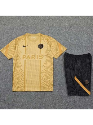Paris Saint Germain training soccer jersey PSG maillot domicile match men's sportwear football shirt gold 2020-2021