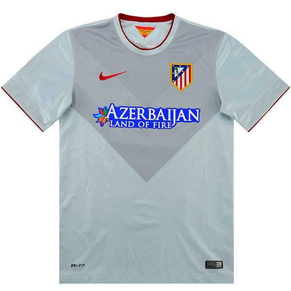 Atletico de madrid away retro jersey men's second sportswear football tops sport shirt 2013-2014