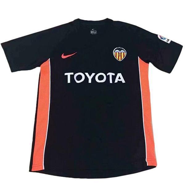Valencia away retro vintage soccer jersey match men's second sportswear football shirt 2006-2007