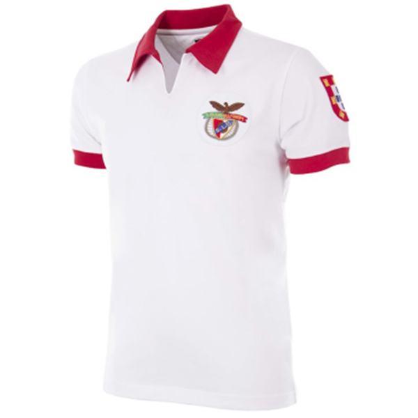 Benfica away retro jersey men's second sportswear football tops sport shirt 1961
