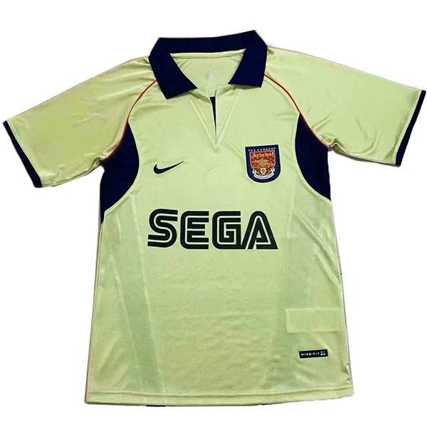 Arsena away retro soccer jersey maillot match men's second sportswear football shirt 2002