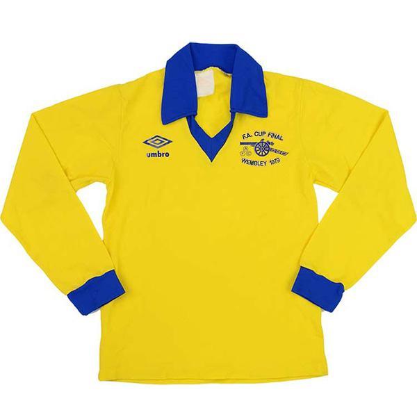 Arsenal away retro jersey long sleeve vintage soccer match men's second sportswear football shirt 1971-1979
